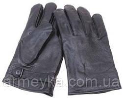 Кожанные перчатки BW, серые