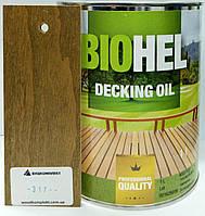 BIOHEL DECKING OIL масло для террас 1 л. №317 - ЗОЛОТО.