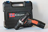 Аккумуляторный Шуруповерт Kronor KR16 с 1 аккумулятором! (оранжевый)