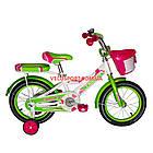Детский велосипед Crosser Rider 14 дюймов бело-салатовый, фото 2