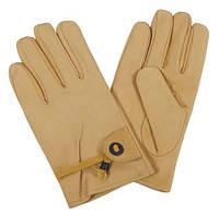 Кожанные перчатки с подкладкой, coyote tan