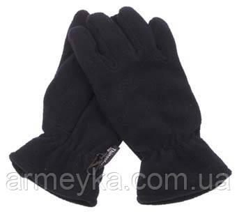 Перчатки флис+thinsulate, черные