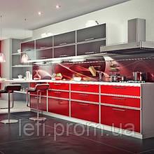 Кухня-Фасады Стекло на ДСП на фурнитуре Linken System или GTV