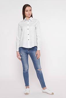 Рубашка женская Татьяна Филатова модель 241 белая в точку