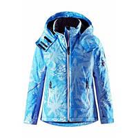 Зимние детские мембранные/лыжные куртки Reimatec Glow, голубая, 122 р.