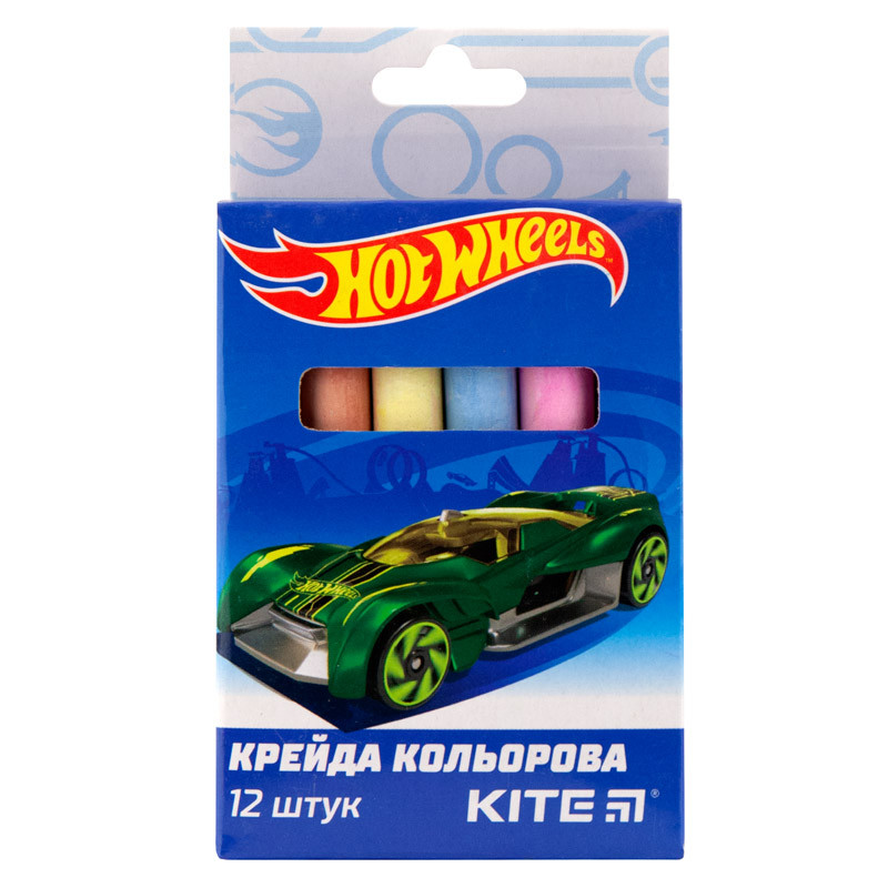 Мел цветной Kite, 12 цветов, Hot Wheels HW19-075