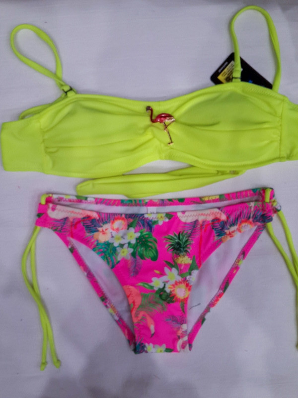 Детский и подростковый купальник Фламинго лимонный 31812 на 32 34 36 38 40 размеры.