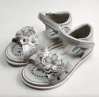 Детские босоножки сандалии сандали для девочки белые ромашка w.niko 31р