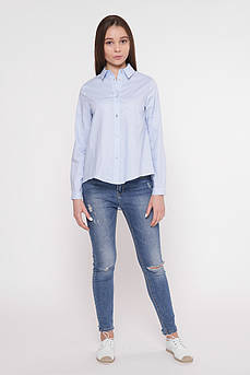 Рубашка женская Татьяна Филатова модель 241 голубая