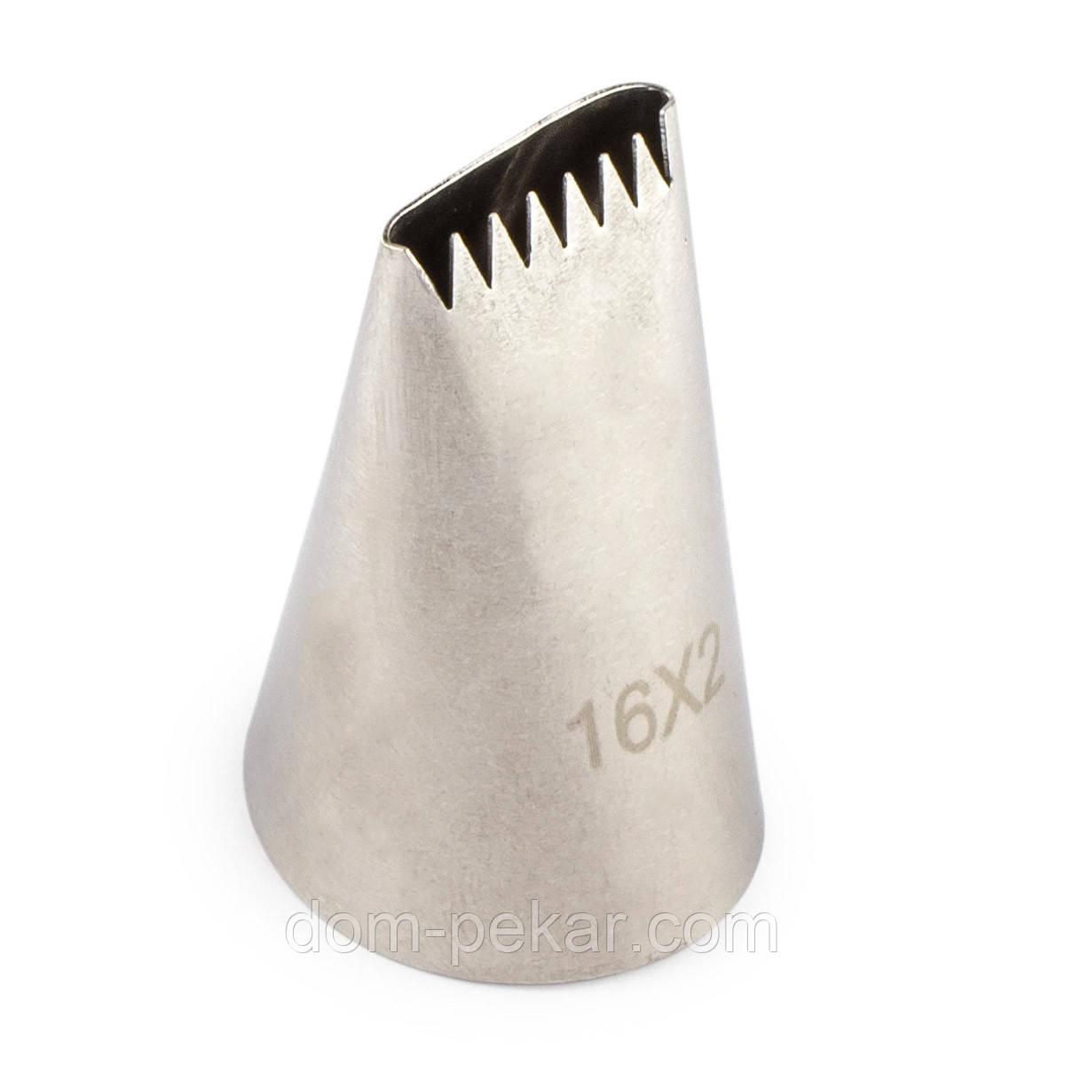 Насадка кондитерская 1 шт металл Дорожка 16х2 (25 мм)