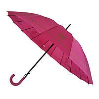 """Женский зонт-трость с логотипами брендов, полуавтомат от фирмы """"MAX"""", розовый, 1001-1, фото 1"""