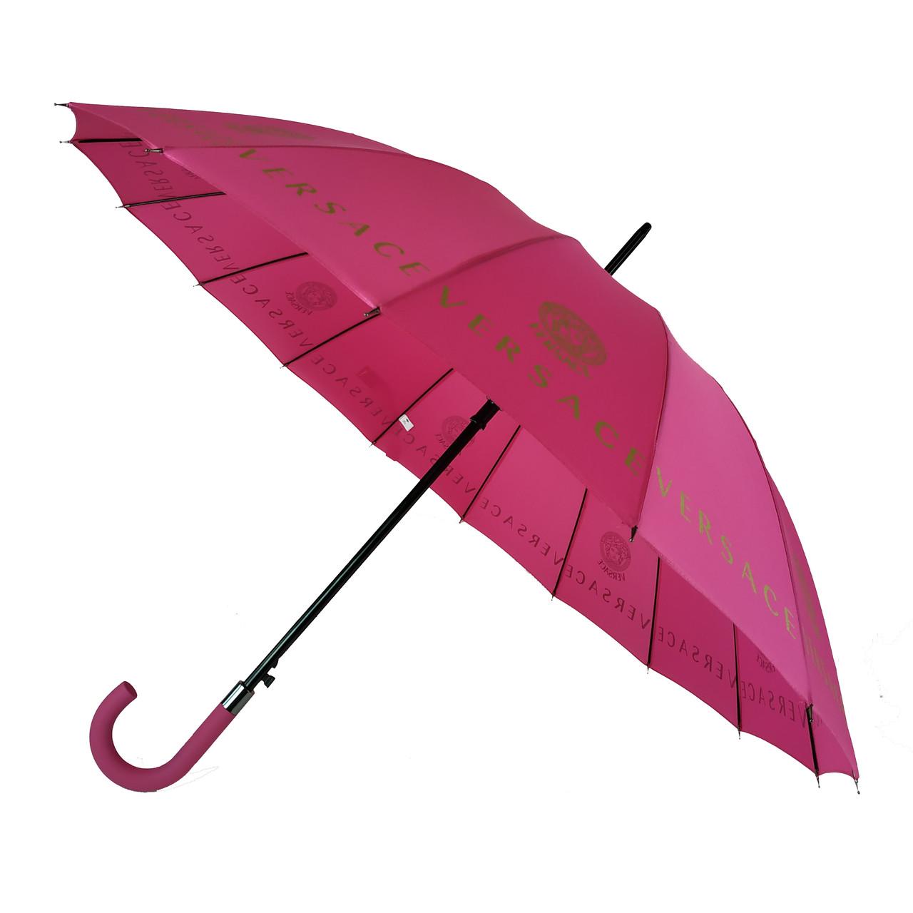 """Женский зонт-трость с логотипами брендов, полуавтомат от фирмы """"MAX"""", розовый, 1001-1"""