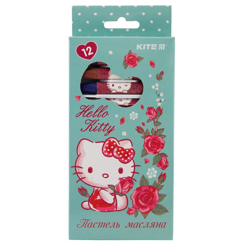 Пастель масляная, 12 цветов, Kite Hello Kitty HK19-071