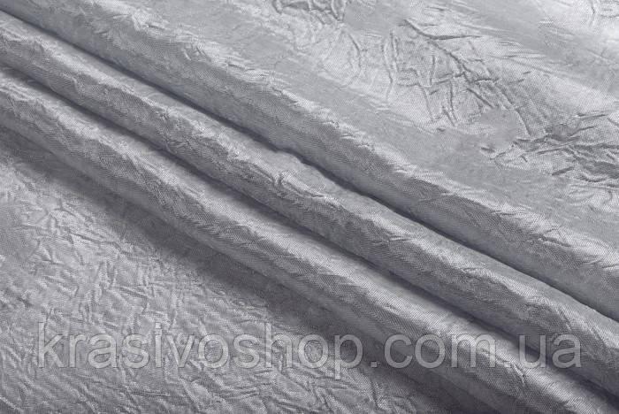 Жатка однотонная серебро