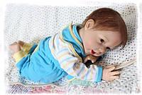 Силиконовая Коллекционная Кукла Реборн Reborn Мальчик ( Виниловая Кукла ) Высота 55 см. Арт.357, фото 1
