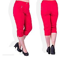 Бриджи красные с высокой посадкой, с 48-58 размер, фото 1