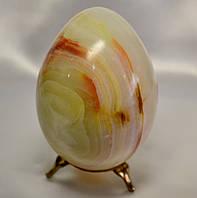 Яйцо из оникса + подставка в подарок (11 см)