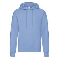 Классическое мужское худи с капюшоном Небесно-голубое размер XL 62-208-YT