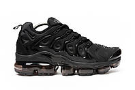 Кроссовки мужские Nike Air Vapormax Plus black. ТОП качество!!! Реплика, фото 1