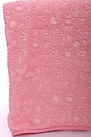 Плед в коляску мех ярко-розовый 110*90
