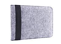 Чехол для ноутбука Gmakin Felt Cover for Macbook 15 light grey GM16-15