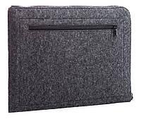 Чехол для ноутбука Gmakin Felt Cover horisontal for Macbook 13 new dark grey GM68-13New