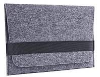 Чехол для ноутбука Gmakin Felt Cover horisontal for Macbook 15 dark grey GM14-15