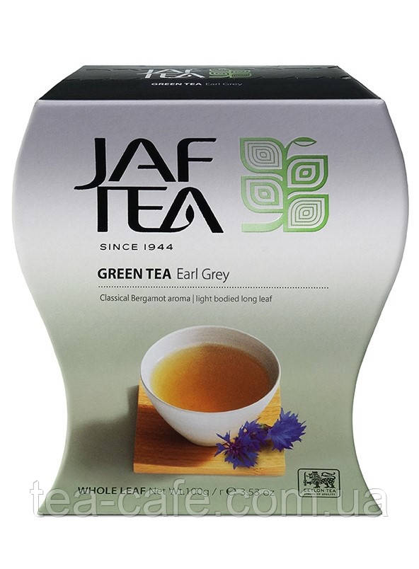 Чай зелений JAF TEA Ерл грей 100 гр.