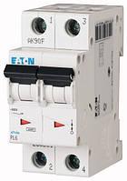 Автоматичний вимикач 10А, х-ка С, 2 полюс,6 кА PL6-C10/2