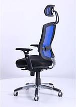 Кресло Коннект HR сиденье Сетка черная/спинка Сетка синяя, фото 3
