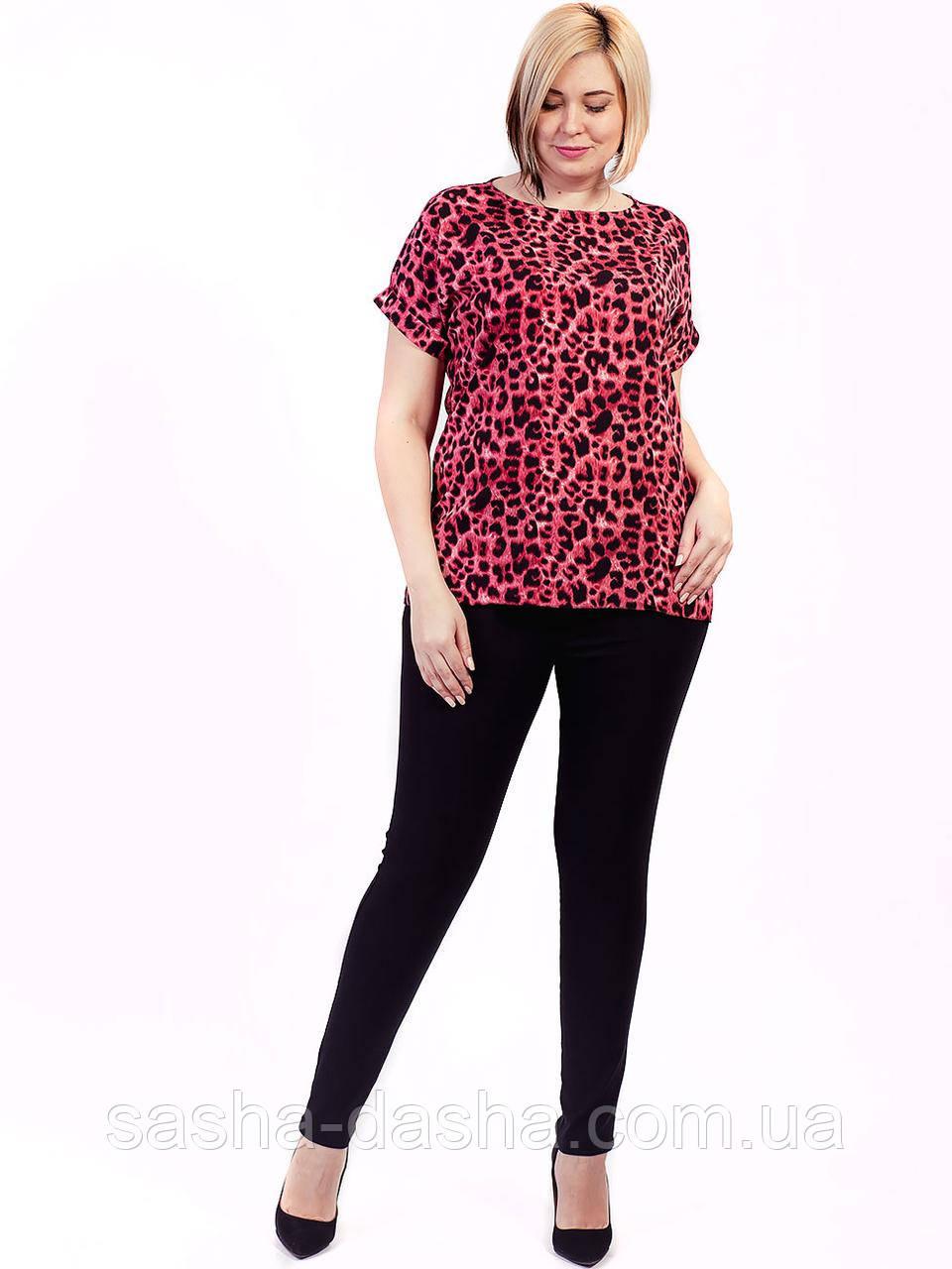 🌺 Эффектная леопардовая блуза в больших размерах