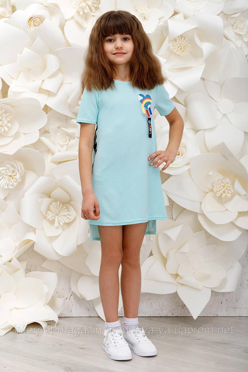 """Платье на девочек """"Love"""" р. 116-152 мята"""