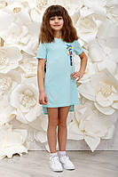 """Платье на девочек """"Love"""" р. 116-152 мята, фото 1"""