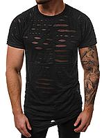 Мужская футболка с асимметричным фасоном