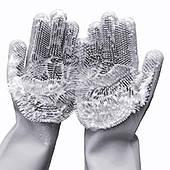 Перчатки для мытья и чистки посуды Серые (Grey)