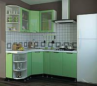 Кухня София Люкс комплект 2м салатовая Сокме