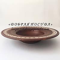 Тарелка для пасты 0.5л Beauty глиняная