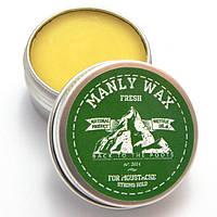 """Мужской воск для усов и бороды MANLY WAX """"original"""", fresh, MANLY, 15 мл"""