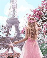 Картина по номерам Влюбленная в Париж (KH4568) 40 х 50 см Идейка