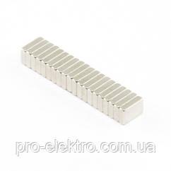Неодимовий магніт прямокутник 6х4х2 мм