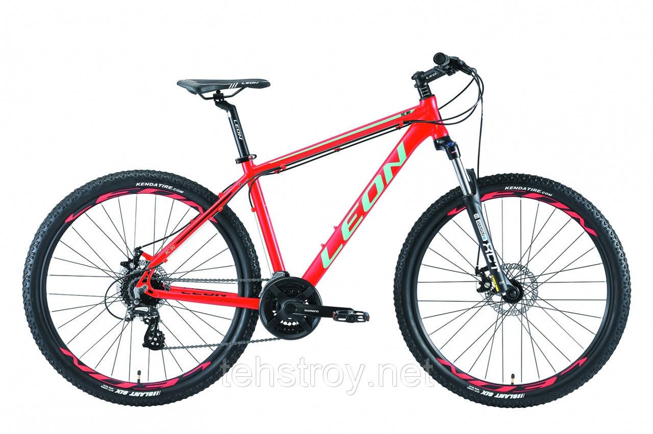 "Велосипед 27.5"" Leon XC-90 AM preload 14G DD Al 2019 (красно-бирюзовый)"