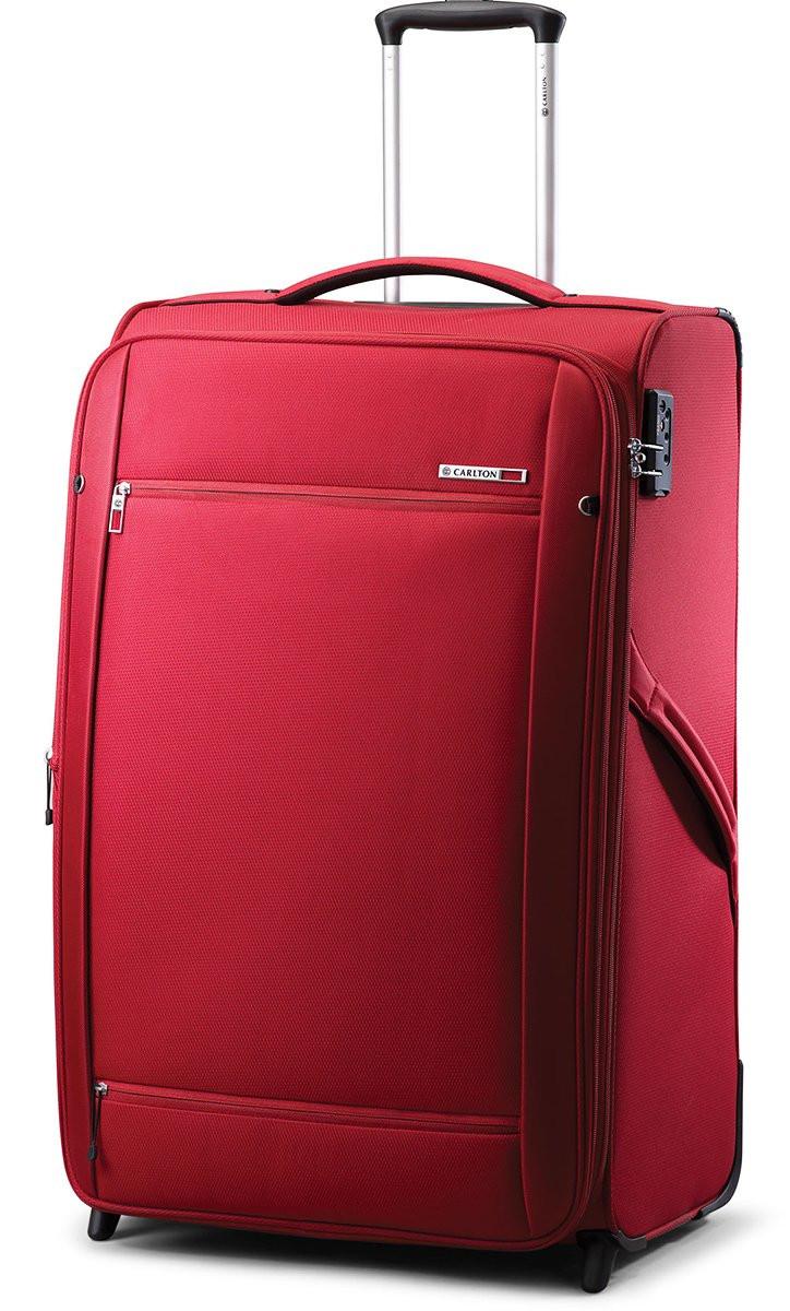 Большой тканевый чемодан CARLTON 072J372;73 красный, 85 л