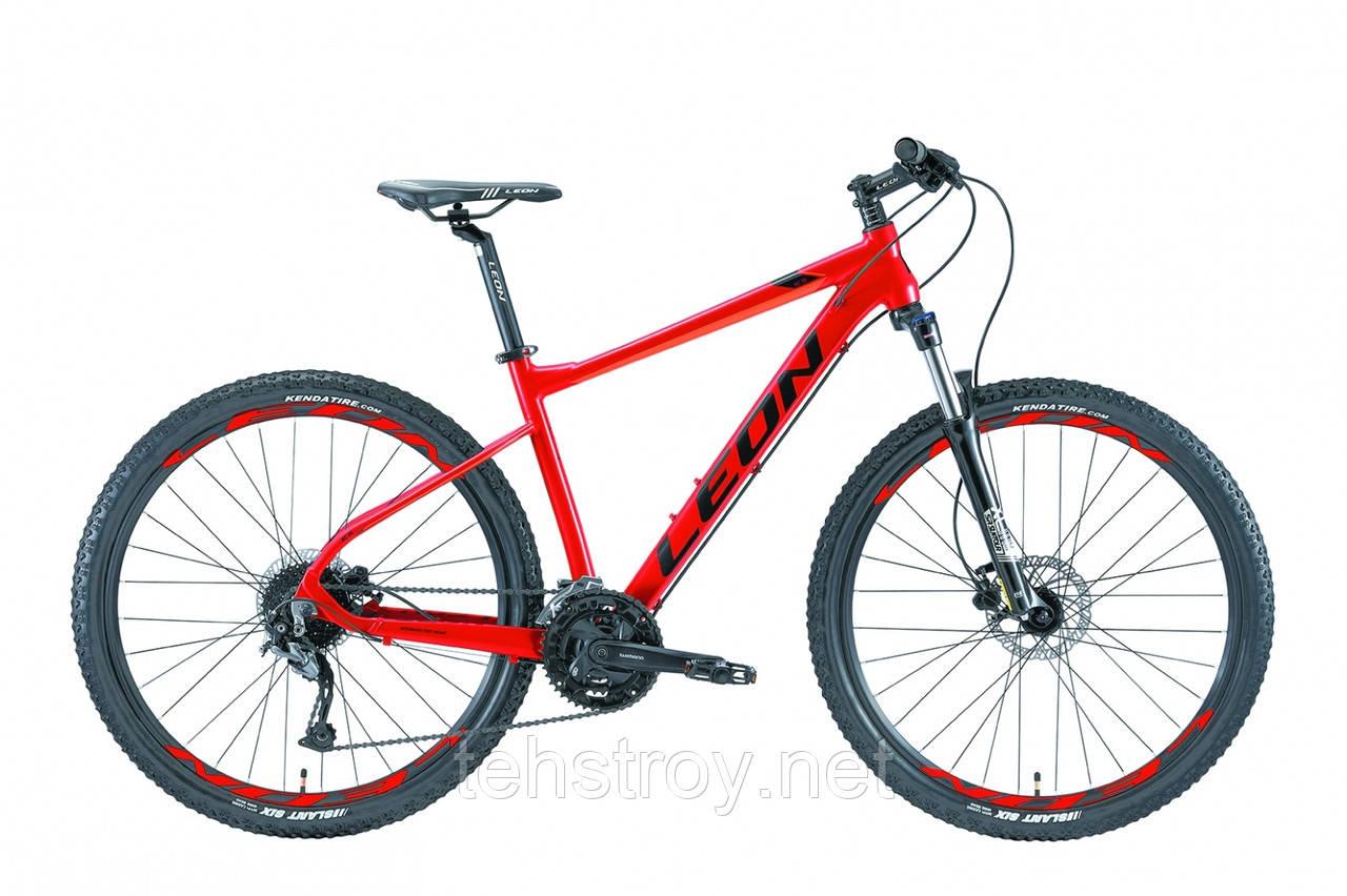 """Велосипед 27.5"""" Leon XC-70 AM Hydraulic lock out 14G HDD Al 2019 (красно-оранжевый)"""