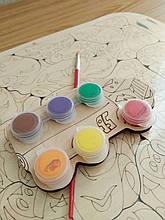 Набор для творчества пазлы деревянные Тачки