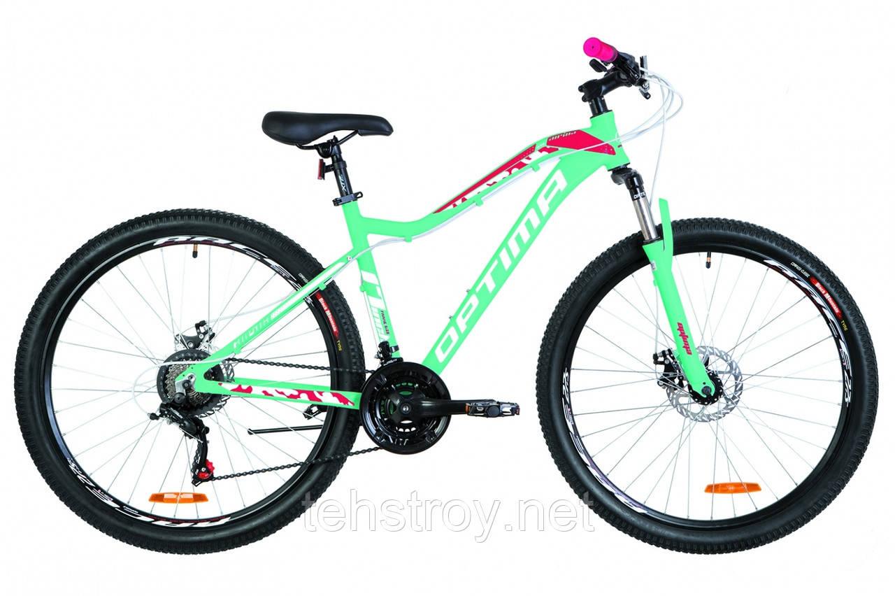 "27.5"" Optimabikes ALPINA DD 2019 (голубой с малиновым)"