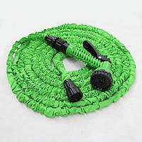 Шланг X-HOSE 45 метров для полива усиленный с распылителем Magic Hose, зеленый