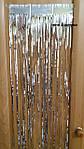 Серебристый новогодний дождик - (высота 1метр, ширина 24см), ширина одной полосочки около 2мм, фото 4