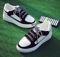Черные летние женские кроссовки, фото 1