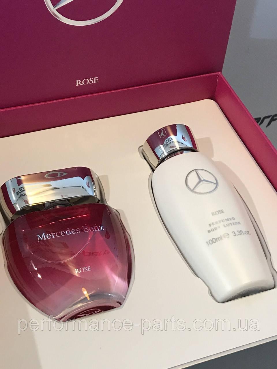 Женский подарочный парфюмерный набор Mercedes-Benz Ladies Rose Perfume, Set of 2, 50 ml, артикул B66954759