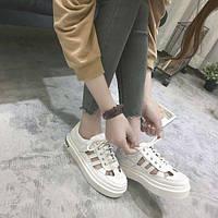 Белые недорогие летние кроссовки, фото 1